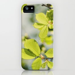 Fresh Spring Leaves iPhone Case