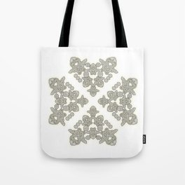 'Love 03' - Dutch heart of lace in grey and soft yellow Tote Bag