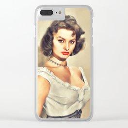 Sophia Loren, Hollywood Legend Clear iPhone Case