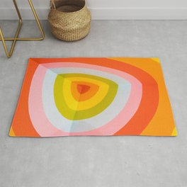 Multi Colour Corner Wall Art Rug