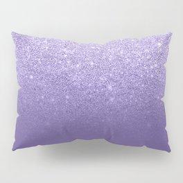 Modern ultra violet faux glitter ombre purple color block Pillow Sham