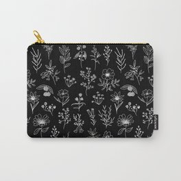 Little Patagonian Wildflowers - Black Carry-All Pouch