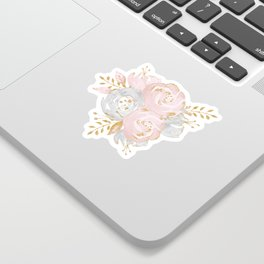 Roses Gold Glitter Pink by Nature Magick Sticker