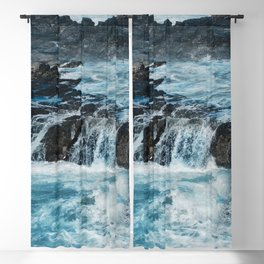 Blue Ice Glaciers Melting in Spring Blackout Curtain