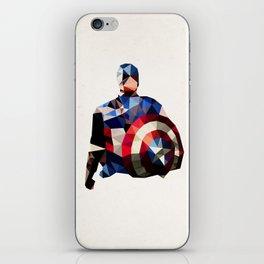 Polygon Heroes - Captain America iPhone Skin
