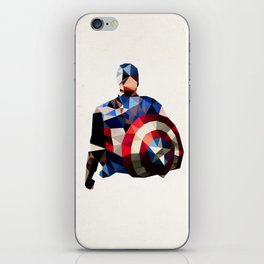 Polygon Heroes - Captain America iPhone Skin