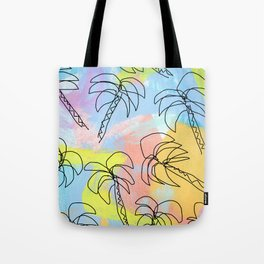 Live This Moment no.1 - illustration palm tree pattern summer tropical beach California pastel color Tote Bag
