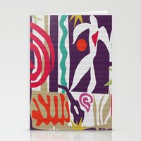 matisse Stationery Cards featuring Inspired to Matisse (violet) by Chicca Besso
