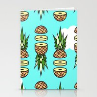 pinapple Stationery Cards featuring Eat pineapples by Jan Luzar
