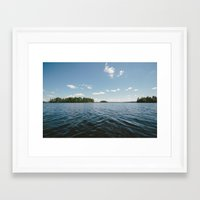 swedish Framed Art Prints featuring Swedish Lake by Andreas Gillström