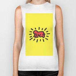 Inspired to Keith Haring Biker Tank