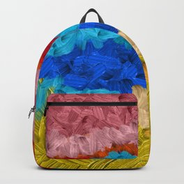 38    | Abstract Expressionism| 210210| Digital Abstract Art Textured Oil Painting Backpack