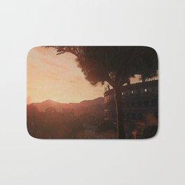 Sunset on ancient Rome Bath Mat