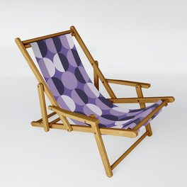 Retro circles grid purple Sling Chair
