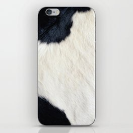 Cowhide Black and White iPhone Skin