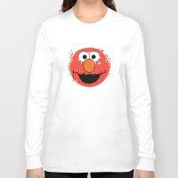 elmo Long Sleeve T-shirts featuring Elmo splatt by Firepower