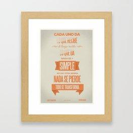 Todo se Transforma Framed Art Print