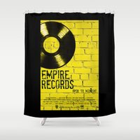 records Shower Curtains featuring Empire Records by Pixie Riot