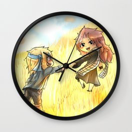 Chibi Nalu Genderbent Golden Glasslands Wall Clock