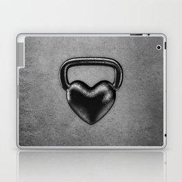 Kettlebell heart / 3D render of heavy heart shaped kettlebell Laptop & iPad Skin