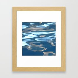 H2O # 29 - Water abstract Framed Art Print