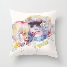 looking for you in my own color wave Throw Pillow