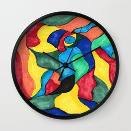 Stained Glass Eye Wall Clock