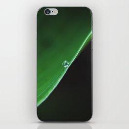 one drop on green iPhone Skin