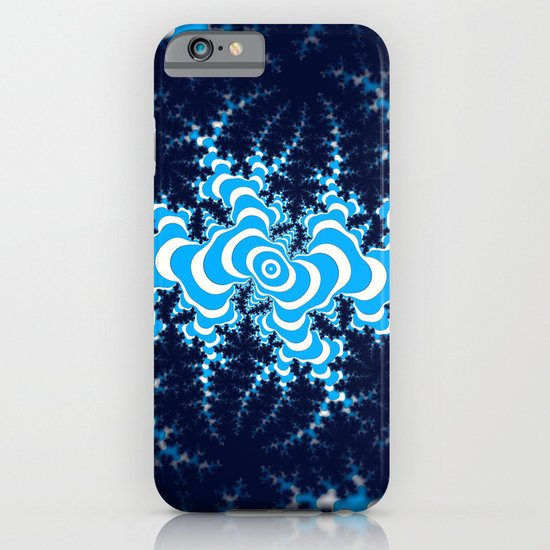 Blue and White fractal iPhone & iPod Case