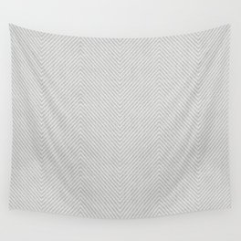 Stitch Weave Geometric Pattern in Grey Wall Tapestry