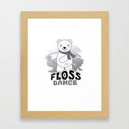 Trends Exercise Movement Flossing Gift Floss Dance  Move Polar Bear Framed Art Print