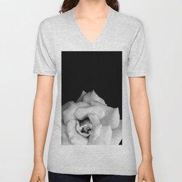 Rose Monochrome Unisex V-Neck