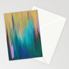 Green & Gold Abstract Stationery Cards