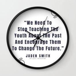 13   |  Jaden Smith Quotes | 190904 Wall Clock