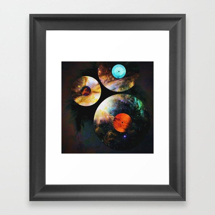 Space-LP Gerahmter Kunstdruck