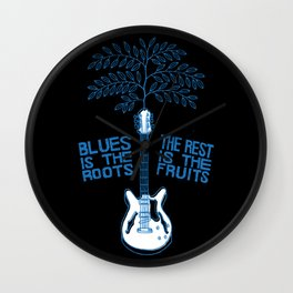 Blues Is The Roots Wall Clock