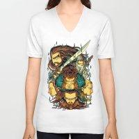 the hobbit V-neck T-shirts featuring The Hobbit by anggatantama
