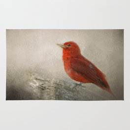 Song of the Summer Tanager 1 - Birds Rug