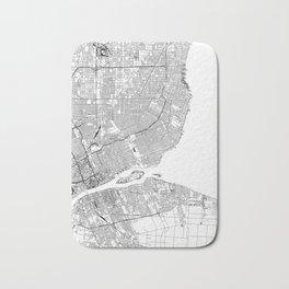 Detroit White Map Bath Mat