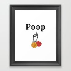 Poop Framed Art Print