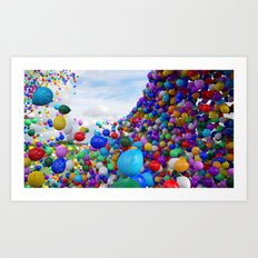 OMG Balloons! Art Print