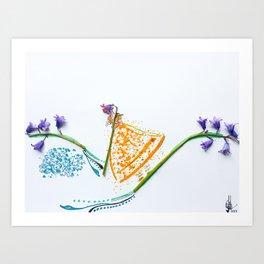 Scottish Bluebell BoPeep Art Print