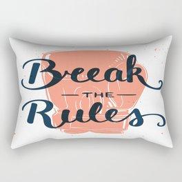 Break The Rules Rectangular Pillow
