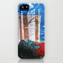 Skull Among Birches iPhone Case