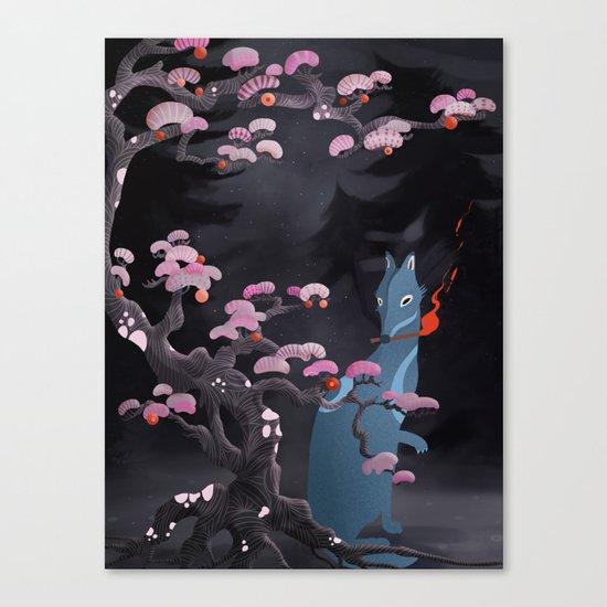 Hokkaido Wolf Canvas Print