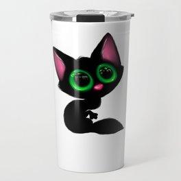 Cute Cartoon Cat Travel Mug