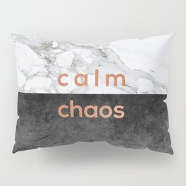 Calm Chaos Copper Pillow Sham