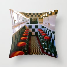Diner classic Throw Pillow