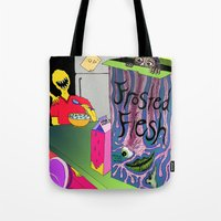 in the flesh Tote Bags featuring Frosted Flesh by Masmantha