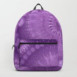 """Purple & Mallow Vault Mandala"" (Silver stars) Backpack"